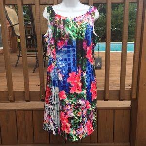 Adrianna Papell Scuba A-Line Dress NWT